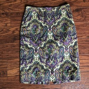 J. Crew  no. 2 pencil skirt paisley print size 0